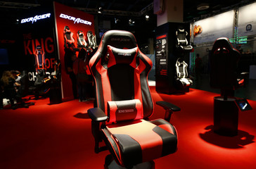 A DXR Acer seat is seen during the Gamescom fair in Cologne