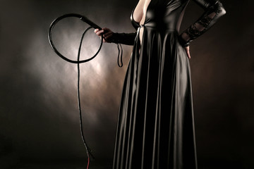 female master with whip