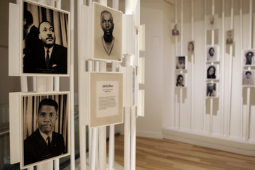 Pictures and information of martyrs of people from the Civil Rights era are on display at the new National Center for Civil and Human Rights in Atlanta
