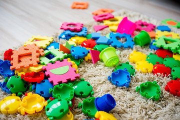 Baby toys on floor