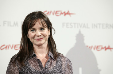 Actress Watson poses during a photo call for her in-competition movie 'Oranges and Sunshine' at the Rome Film Festival