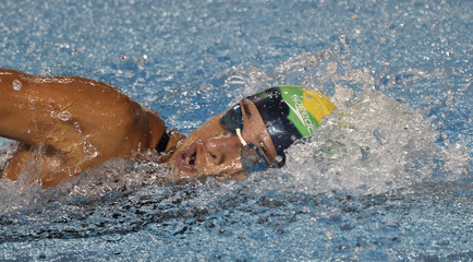 Brazil's Joanna Maranhao competes in the women's 200m individual medley preliminaries at the Pan American Games in Guadalajara
