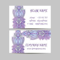 Vintage decorative elements. Business Cards. Ornamental floral. Oriental pattern, vector illustration.