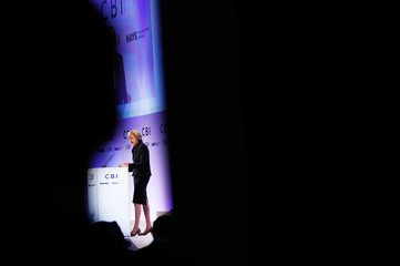 Britain's Prime Minister Theresa May addresses the Confederation of British Industry's (CBI) annual conference in London
