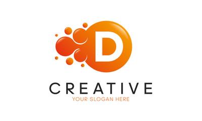 Dots Letter D Logo