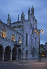Nightfall on a Cathedral in Como, Italy