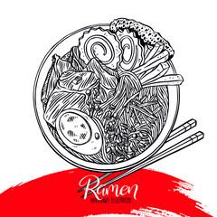 Appetizing sketch ramen