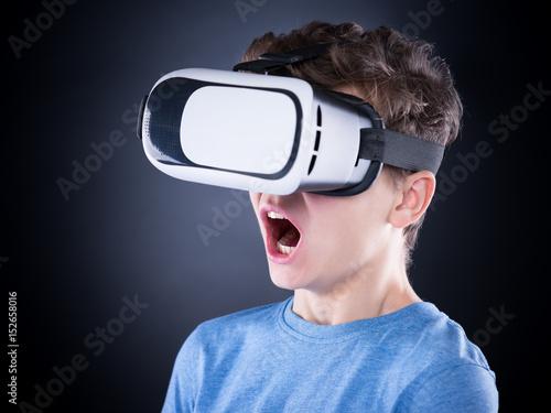 11fd37f3d848 Amazed teen boy screaming