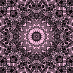 Seamless kaleidoscope pattern in retro