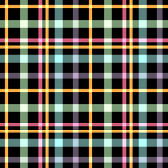 Seamless checkered plaid pattern