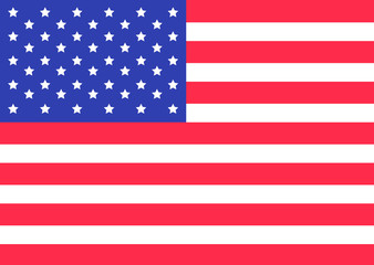 Star and strip american flag. Happy independence day symbol. United states of America. 4th of July. Rectangular shape. Flat design.