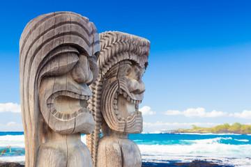 Hawaiian wood carving