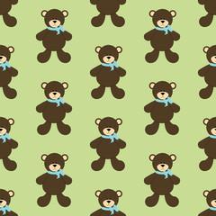 Bear toy seamless pattern