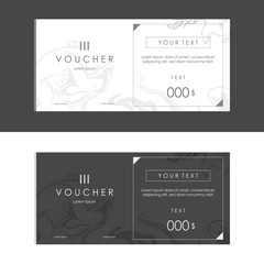 Voucher pack, Black and white marble texture