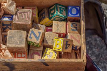 nostalgic toy wood blocks