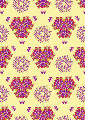 Seamless pattern with abstract multicolored triangles. Endless geometric pattern.