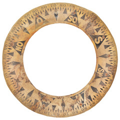 Authentic ancient ship compass paper ring used for navigation