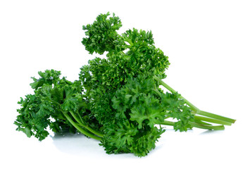 Parsley isolated on a white background