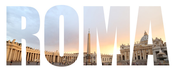 Rome text background