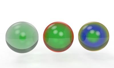 Backgrounf of glass balls, 3d render