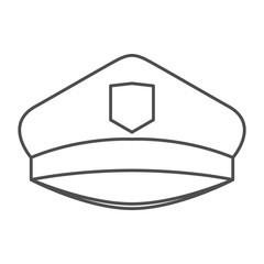 monochrome silhouette of police cap vector illustration