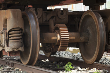 train wheels from metal during .