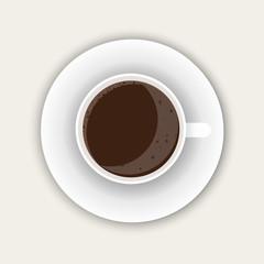 Cup of espresso. Black coffee.