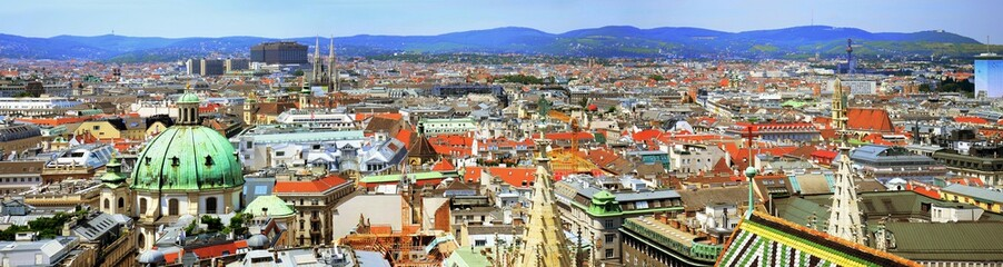 Austrian capital Vienna city view