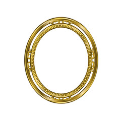 Decorative frame of golden color