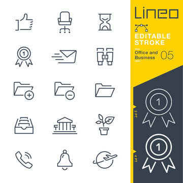 Lineo Editable Stroke - Office and Business outline icons Vector Icons - Adjust stroke weight - Expand to any size - Change to any colour