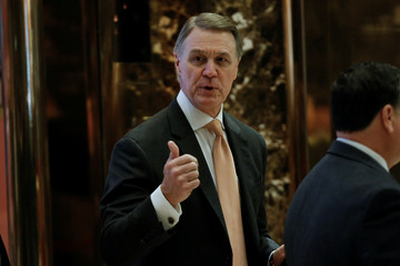 U.S. Senator Perdue (R-GA), arrives for a meeting with U.S. President-elect Trump at Trump Tower in New York