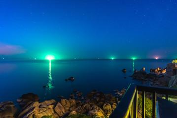 Brilliant Light Reflection On Sea