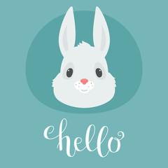 Cute bunny/rabbit head