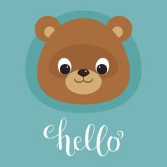 Cute teddy bear head