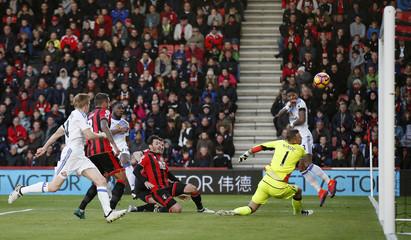 Sunderland's Victor Anichebe scores their first goal