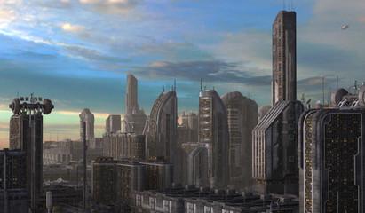 Future Cityscape 3D Illustration