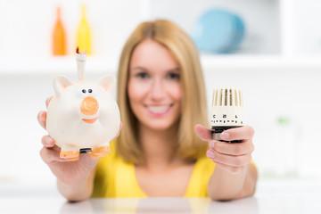 hausfrau spart energiekosten