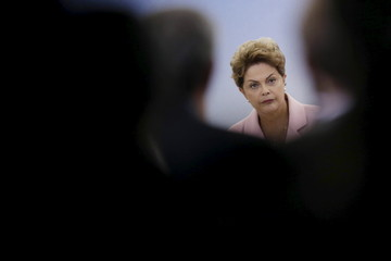 Brazil's President Dilma Rousseff participates in the inauguration ceremony of the National Agricultural Protection Plan at the Planalto Palace in Brasilia