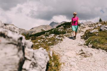Wanderer in den Dolomiten, Italien