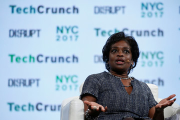 FCC Commissioner Mignon Clyburn speaks during the TechCrunch Disrupt event in New York City