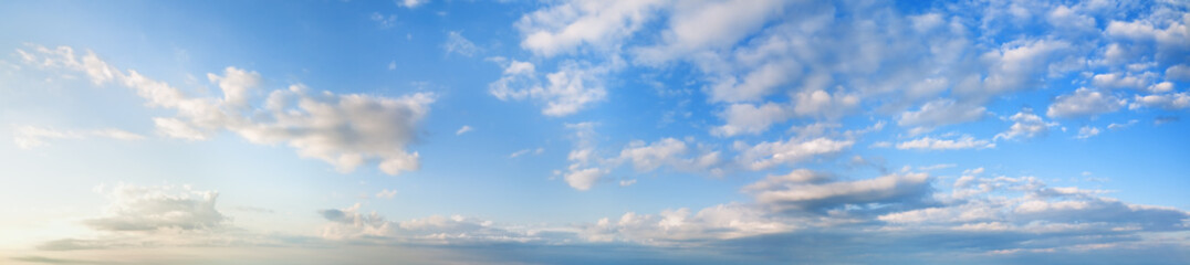 Morning blue sky panorama.