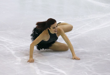 Wagner of the U.S. performs during the ladies short program at the ISU Grand Prix of Figure Skating final in Barcelona