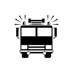 fire engine icon vector illustration. Flat design style