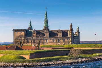 Fotobehang Kasteel Helsingor, Denmark - May 01, 2017: Kronborg castle in Helsingor