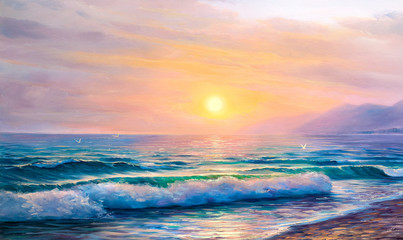 painting seascape