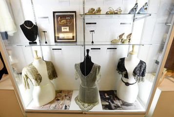 """Items from the Madonna collection is pictured on display at Julien's Auctions for the upcoming """"Icons & Idols: Rock n Roll"""" auction in Beverly Hills"""