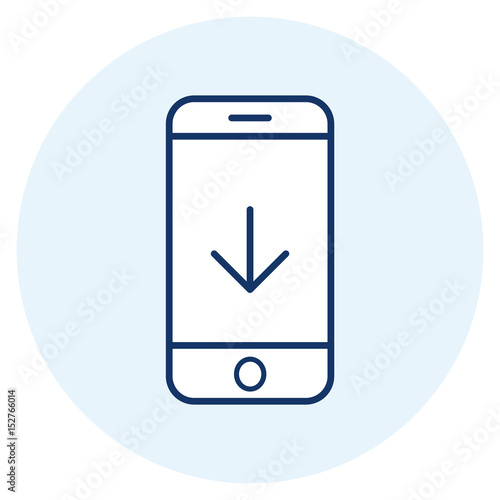 Download mobile app line icon