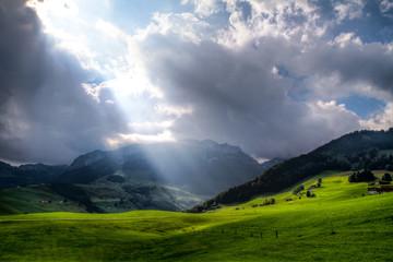 Foto op Plexiglas Onweer Appenzell