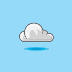 Vector illustration cloud in sky on a light blue background
