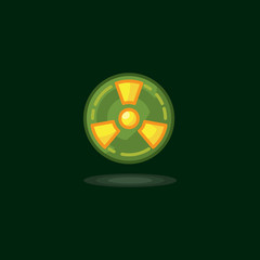 Vector illustration radiation symbol, radiation sign, radioactive waste, radiation activity